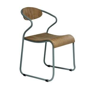 Jedálenská stolička so sivými nohami Red Cartel Walter