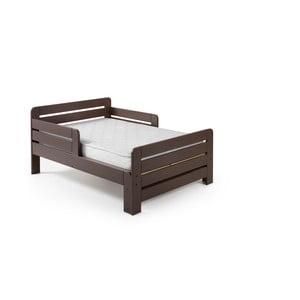 Hnedá nastaviteľná posteľ Vipack Jumper