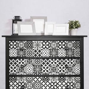 Sada 30 samolepiek na nábytok Ambiance Cement Tile Furniture Franco, 15 x 15 cm