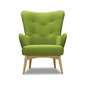 Zelené kreslo Vivonita Uma