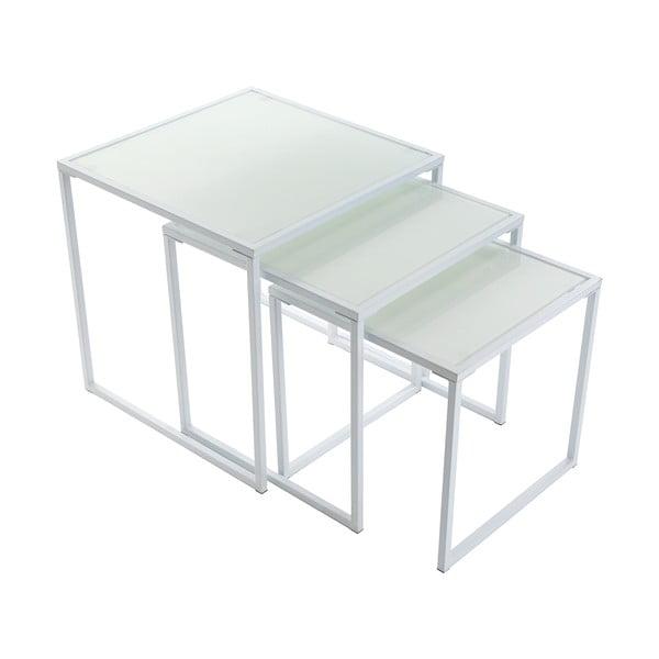 Sada 3 stolíkov White Trays