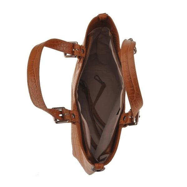 Kožená kabelka Pesca, koňaková
