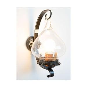 Čierne kovové nástenné svietidlo Cruccolini Gancio