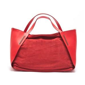 Kožená kabelka Mangotti 878, červená