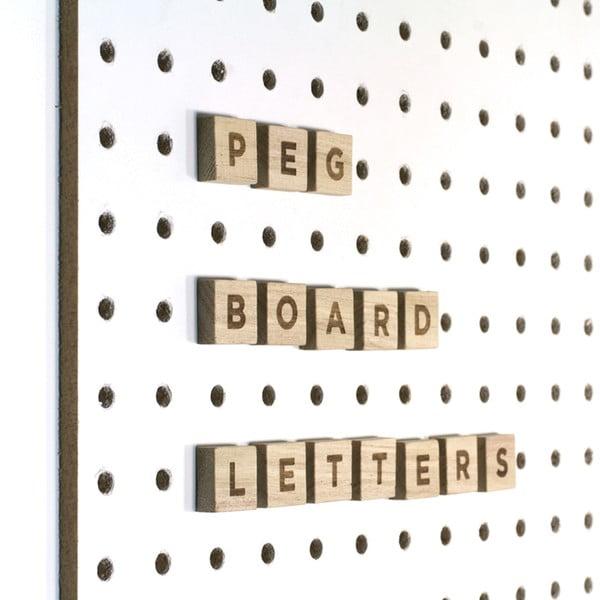 Písmená na nástenku Pegboard