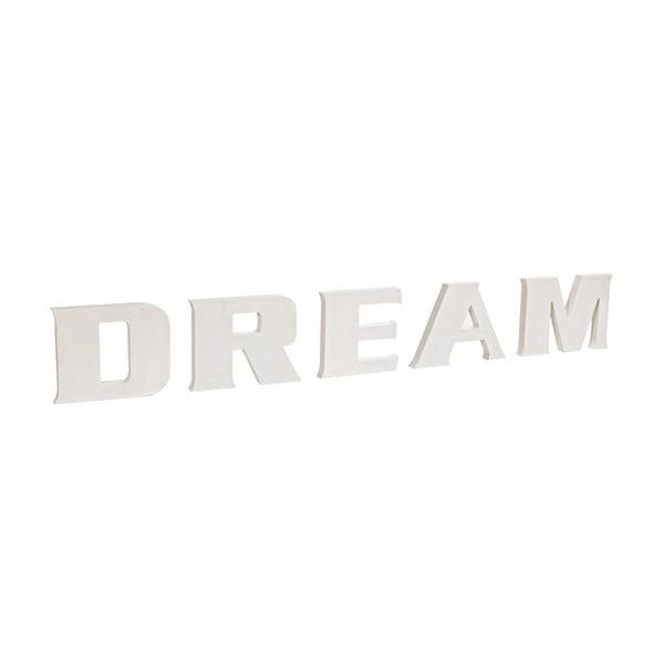 Dekoratívny nápis Dream, biely