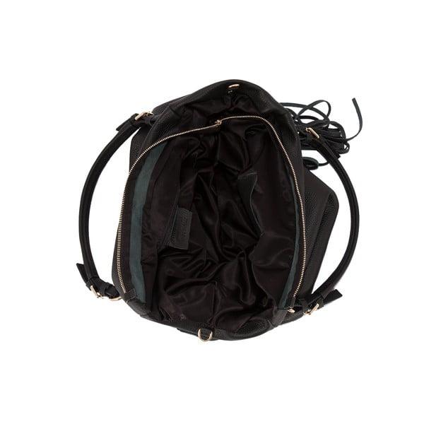Čierna kabelka z pravej kože Andrea Cardone Star