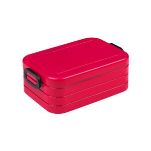 Červený box na obed Rosti Mepal Ellipse Take a Break, 18,5 x 12 cm