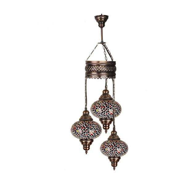 Sklenená závesná lampa Three I, 13 cm