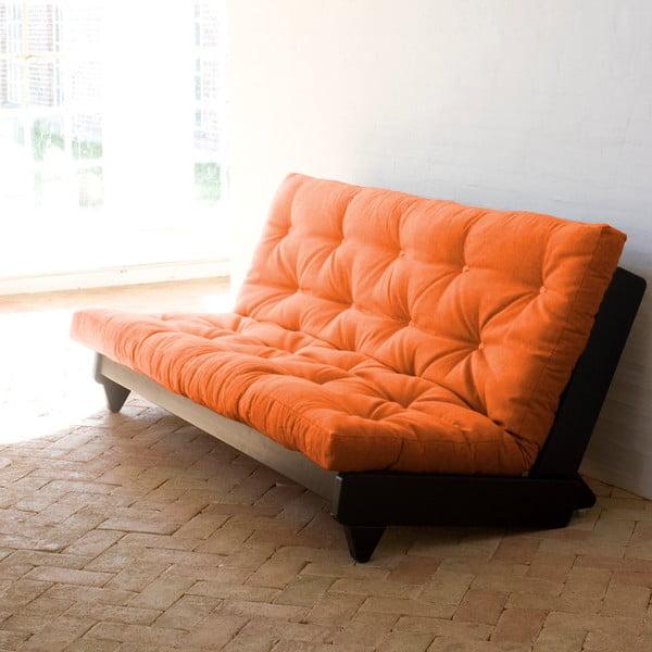 Rozkladacia pohovka Karup Fresh Wenge/Orange