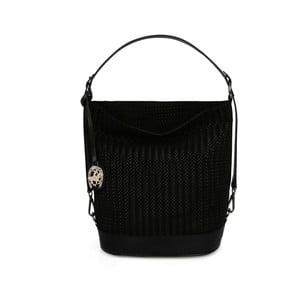 Čierna kožená kabelka Beverly Hills Polo Club Adriane