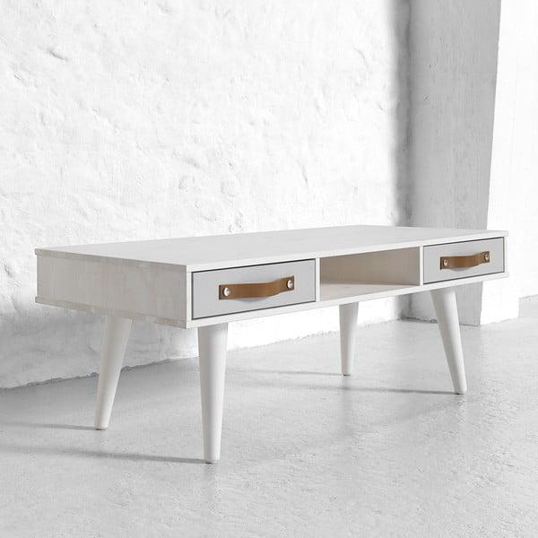 Konferenčný stolík Says Who for Karup Dance Cool Gray so sivými zásuvkami, biely