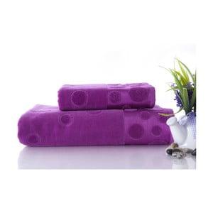 Set uteráka a osušky Tropical Plum Color, 70x140 a 50x90 cm