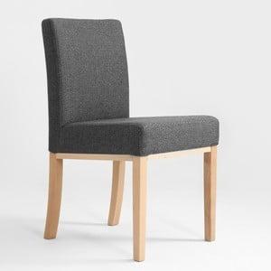 Tmavosivá stolička s prírodnými nohami Custom Form Clark