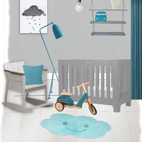 Detský modrý koberec Nattiot Nimbus, 75 x 115 cm
