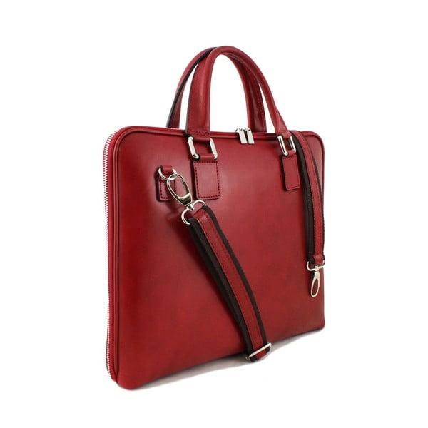 Kožená unisex taška Manola Rosso