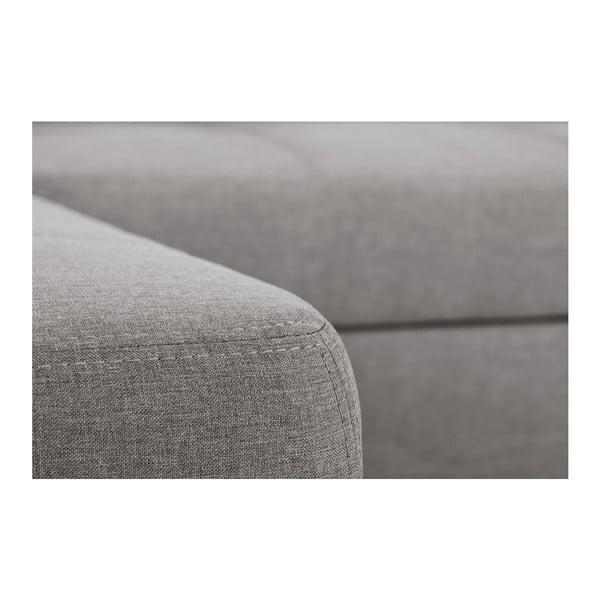 Sivá rozkladacia pohovka Modernist Icone, ľavý roh
