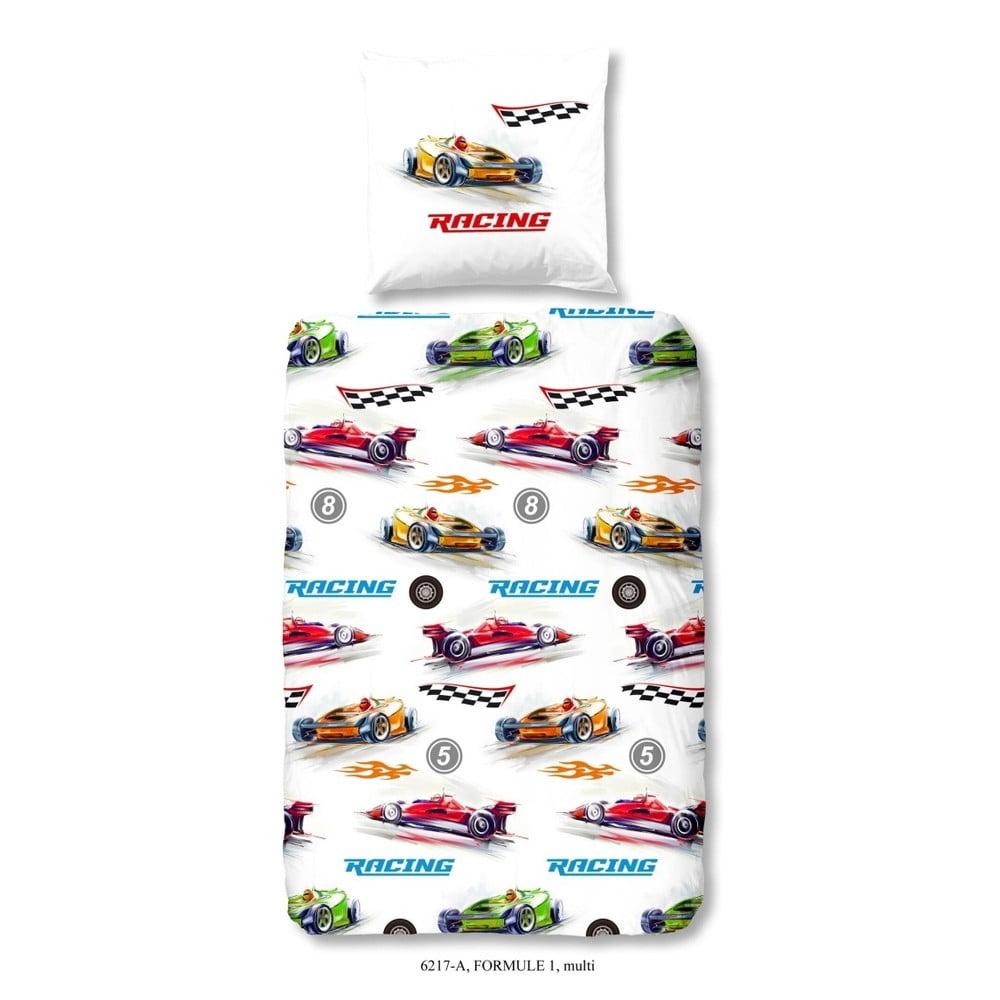 Detské obliečky na jednolôžko z bavlny Good Morning Formule 1, 140 × 200 cm