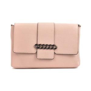 Ružová kožená kabelka Mangotti Bags Baso