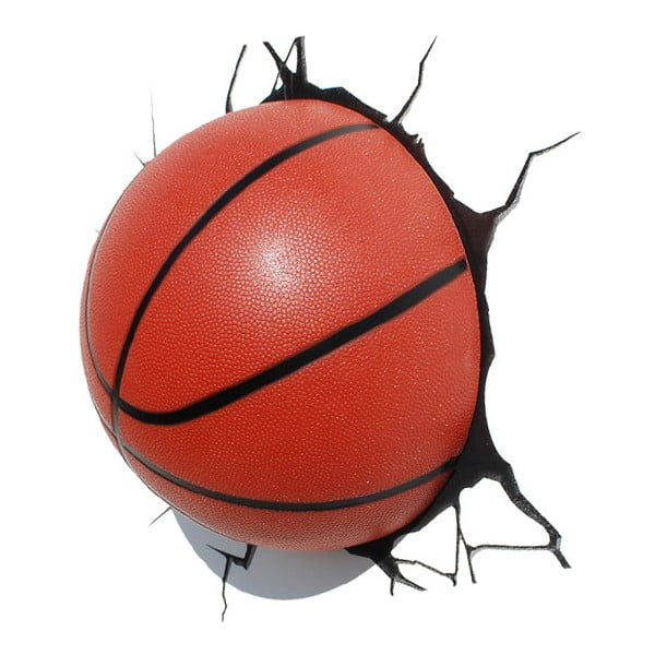 Nástenné svetlo s nálepkou Tnet Basketball
