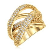 Dámsky prsteň zlatej farby Runaway Barbara, 52