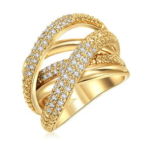 Dámsky prsteň zlatej farby Runaway Barbara, 56