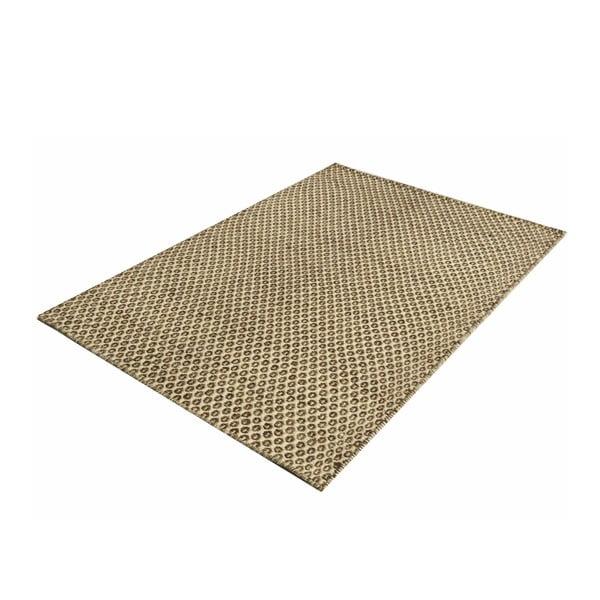 Ručne tkaný koberec Brown Dots Kilim, 107x158 cm