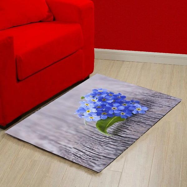 Vinylový koberec Blue, 52x75 cm