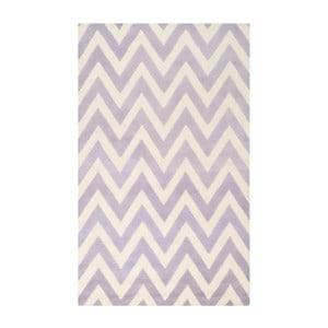 Vlnený koberec Stella Light Purple, 91x152 cm