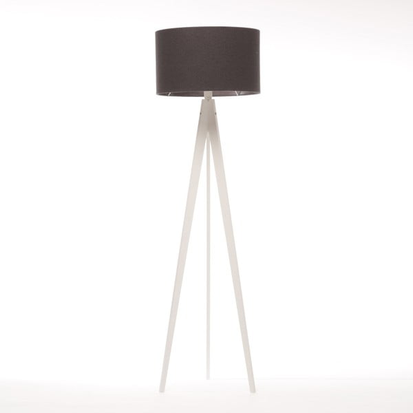 Čierna stojacia lampa 4room Artist, biela lakovaná breza, 150 cm