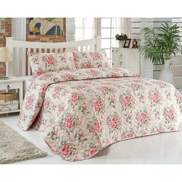 Sada prešívanej prikrývky na posteľ a vankúša Single 194, 160x220 cm