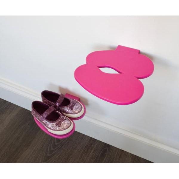 Polica na detské topánky J-ME Footprint, růžová