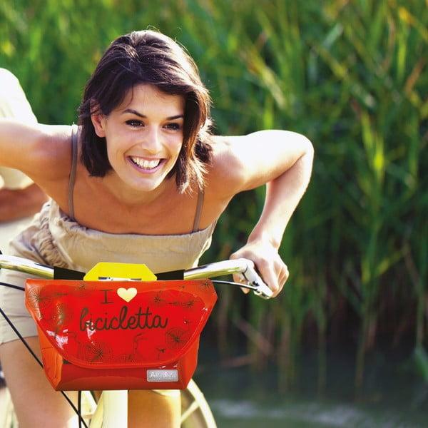 Taška na riadidlá bicykla I ♥ Bicicleta, žltá