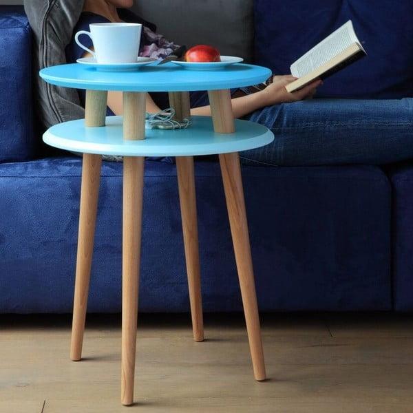 Odkladací stolík UFO 61x45 cm, modrý