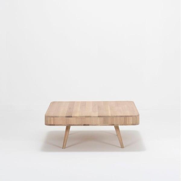 Konferenčný stolík z dubového dreva Gazzda Ena Club, 90 x 90 x 35 cm