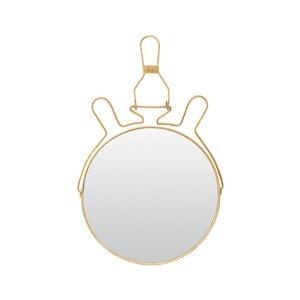 Zlaté kozmetické zrkadielko so stojanom Meraki, ⌀ 20 cm
