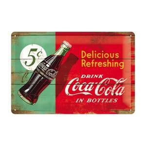 Plechová ceduľa 5c Coca Cola