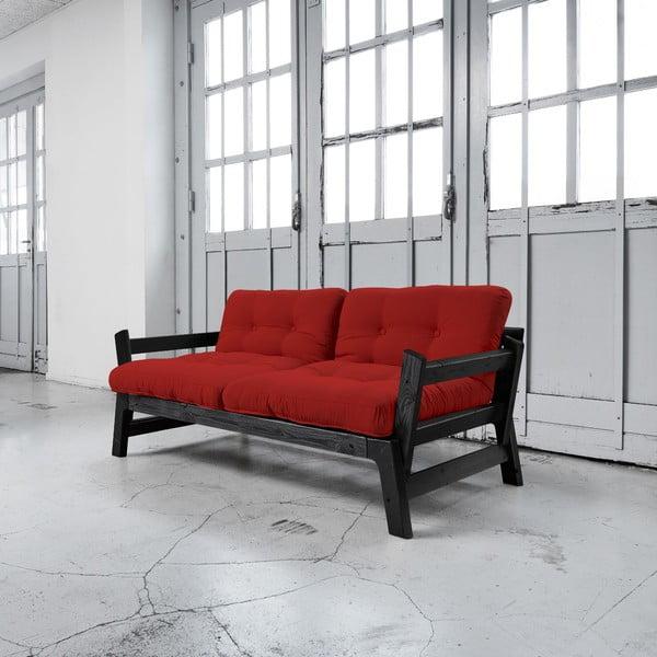 Rozkladacia pohovka Karup Step Black/Red