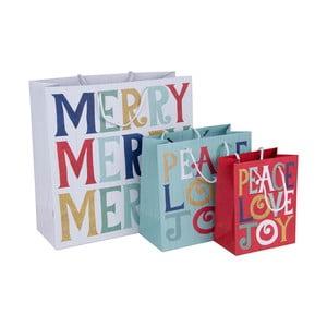 Sada 3 darčekových taštičiek Tri-Coastal Design Merry Merry Merry