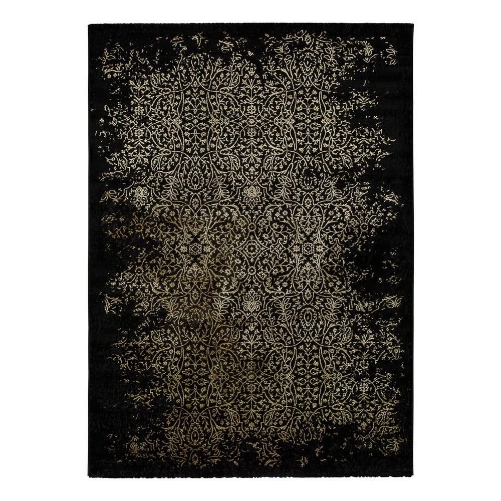 Čierny koberec Universal Gold Duro, 120 x 170 cm