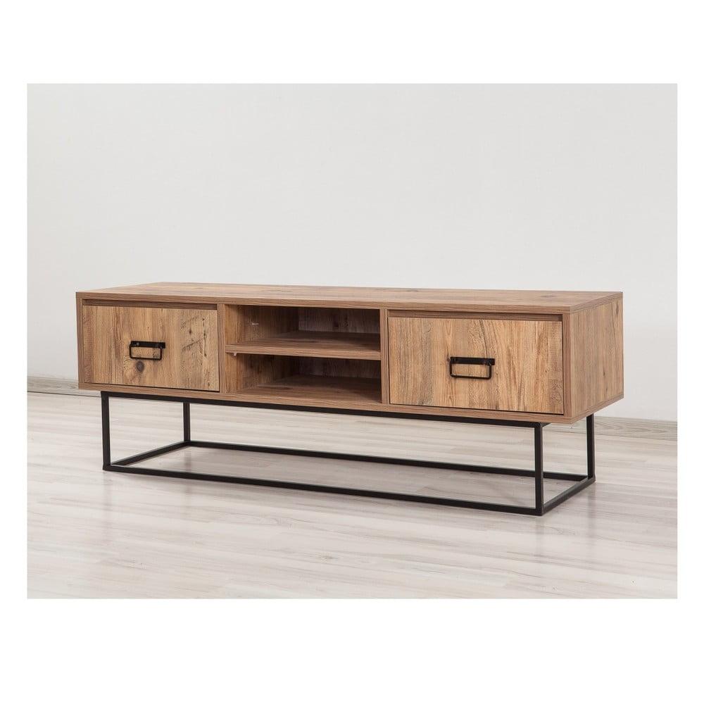 Televízny stolík Hamide, dĺžka 140 cm