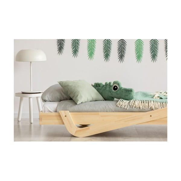 Detská posteľ z borovicového dreva Adeko Zig, 80×200 cm