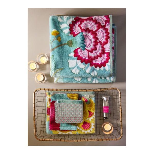 Modrý uterák Pip Studio Floral Fantasy, 55x100cm