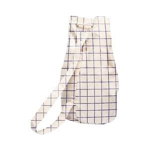 Jednoduchý látkový vak Linen Simple Squares, šírka 40 cm