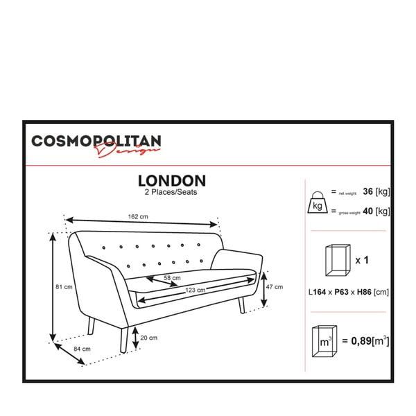 Svetloružová pohovka pre dvoch Cosmopolitan design London