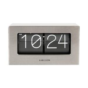 Sivé hodiny Present Time Boxed Flip