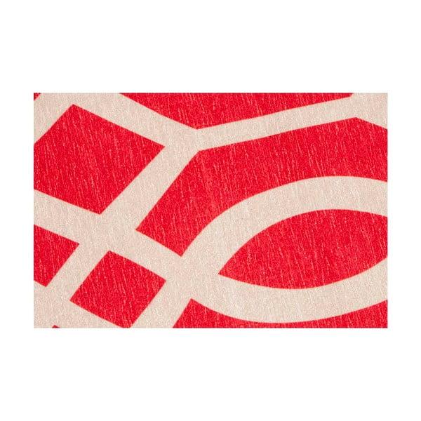 Vysokoodolný kuchynský koberec Wallpaper Coral Red, 130x190 cm