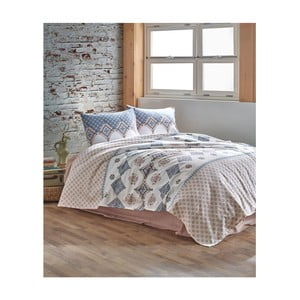 Bavlnený pléd cez posteľ Erva Beige, 200 x 230 cm
