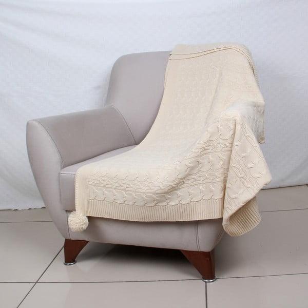 Prehoz v krémovej farbe Tata, 170 x 130 cm