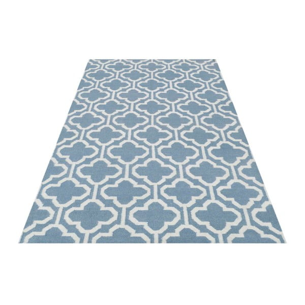 Vlnený koberec Penelope Light Blue, 60x90 cm
